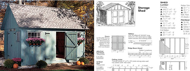 Storage Sheds Shed Plans Build Your Own Shed Canada